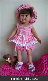 Free Crochet Outfit for American Girl Doll Pattern.