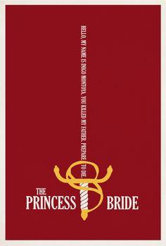 The Princess Bride (Minimalist film posters)   By: Matt Owen, via Smashfreakz