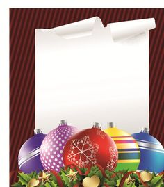 2014 Colored Christmas balls background vector 02