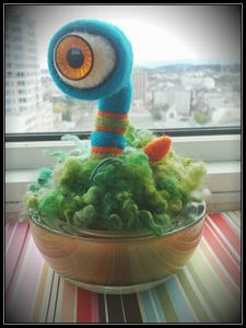 E-Noe needle felted sculpture by Aviena