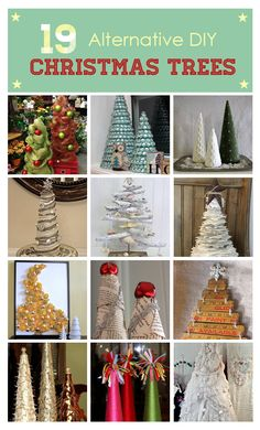 Short on space, time, and $$ ? Here are19 mini DIY christmas trees for every budget and space.