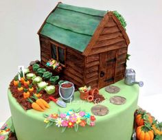 Shed cake on Pinterest Sheds, Cake Designs and Gardening