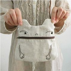 Handmade purse bag / zero purse Diy fabric purse