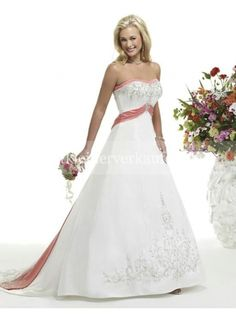 rosa vintage royal brautkleid