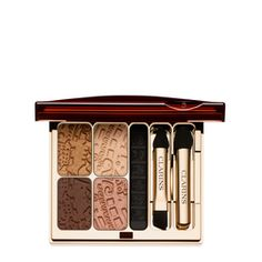 Coppers and natural golds bring out every shade of green eyes. (Splendours Colour Quartet & Eye Liner Palette, £31, Clarins)