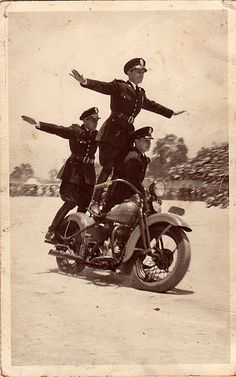 Vintage Motorcycle Photograph