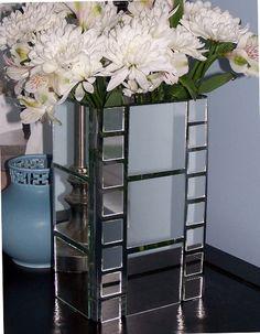 mirrors, idea, mirror project, tiles, mirror vase, night stands, diy mirror