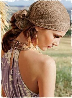 Beautifully bohemian from Peruvian Connection - a quieter, more neutral colored version head scarfs, closets, dresses, hair accessori, collars, bohemian look, boho, beauti bohemian, scarv