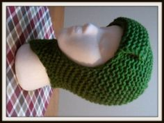 Olive Hat loom knit