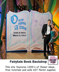 "Fairytale ""Once Upon a Time"" Book Backdrop"