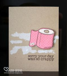 Crappy Day itty bitty - unity stamp company - card created by unity design team member lisa arana