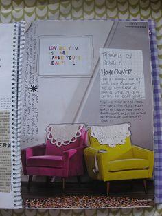 #Art #journal using magazine page