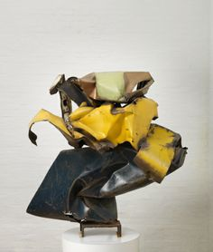 JOHN CHAMBERLAIN, H.A.W.K. 1959: welded and painted steel.