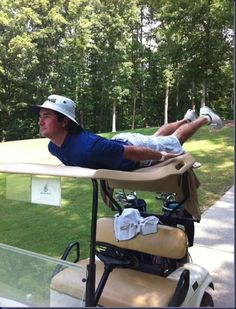 Bubba Watson's golf plank! Nice!