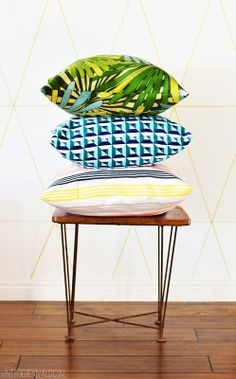 tutorial:  sewing an awesome pillow cover!