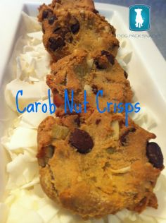 We love sharing dog treat recipes with our fur-friends and their humans.  This week we made cookies with Coconut and Carob.  What a great combination, I can't believe I had not thought of it sooner.  Give this recipe a try, your pooch will thank you for it. Find this and other dog treat recipes at http://DogPackSnacks.net