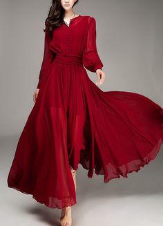 red dress spring dress summer dress women clothing by handok, $89.00