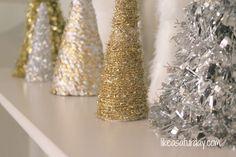 Christmas tree cones DIY