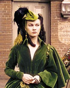 Vivien Leigh as Scarlett in the green curtain dress (my favourite)