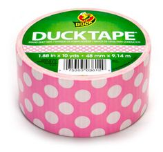 Pink Polka Dot Duck Tape® Brand Duct Tape