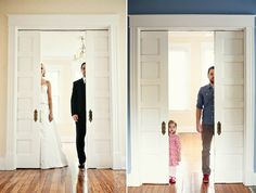 Two Years After Losing His Wife To Cancer, A Man Re-Created His Wedding Photos With Their Young Daughter