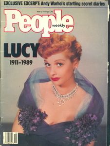 Lucille Ball - People Magazine Cover that covered her Life, after her Death