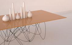 Quantum Table modern furniture, quantum tabl, quantum physic, path, legs, jason phillip, steel, table designs, dining tables