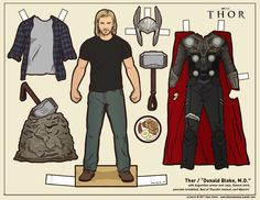 ✄ printable #templates.  Drive, Thor, and Breaking Bad paper dolls