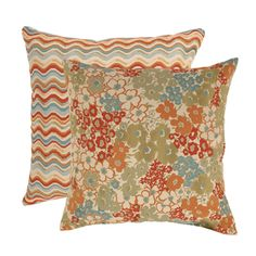 @Overstock.com - This set of two floor pillows from Pillow Perfect features contrasting patterns of floral Meadow and geometric Waves. Coordinating color pallets tie the look together for a unique, fresh look.http://www.overstock.com/Home-Garden/Pillow-Perfect-Meadow-and-Wave-Floor-Pillows-Set-of-2/7213716/product.html?CID=214117 $71.99