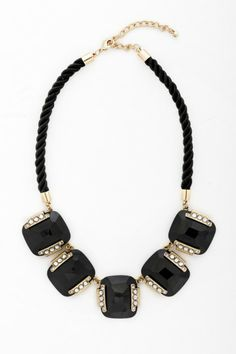 Rope Floats Stone Necklace