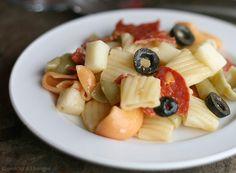 Pizza Pasta Salad Peach Kitchen, Pasta Salad, Pizza Pasta, Cold Pasta Recipie