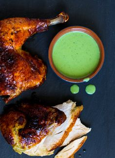 Recipe: Green Goddess roasted chicken || Photo: Andrew Scrivani for The New York Times glorious food, chicken entre, green goddess chicken, food glorious, goddesses, roast chicken, poultri, roasted chicken, goddess roast