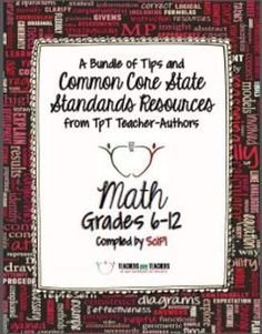 Common Core Math: FREE Back-to-School eBook for Grades 6-12 - lots of great tips about the CCSS!