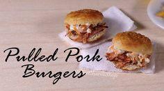 Miniature Pulled Pork Burgers - Polymer Clay Food Tutorial
