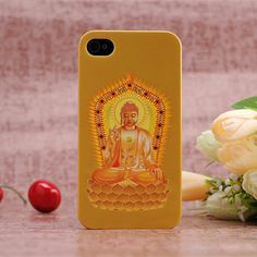Apple iPhone 4 / 4S Hard Sided Thai Buddhism Painting Case