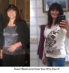 Here's a photo of Nanci Baird.The picture left was taken at the Skinny Body Care Convention in Las Vegas in November of 2011,the picture on the right was today.She has gone from a size 10 to a size 6.Her weight loss was very slow with the pounds in the beginning but never realized her inches were going down!Order your supply http://skinny_1719268.eatlessfeelfull.com/ OR Join the 90 Day Challenge w/ me http://skinny_1719268.sbc90.com/ Or earn great money http://skinny_1719268.onebigpowerline.com/