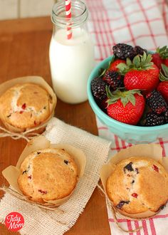 Mixed Berry Muffins -- perfect for summer