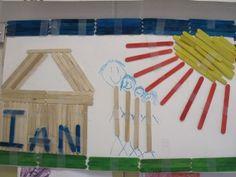 Art using 100 popsicle sticks!