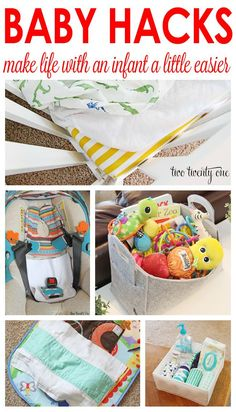 GREAT baby hacks!  T