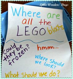 Lego Rescue Game - Free the legos from blocks of ice! Oooh - I love this! #LegoDuploParty