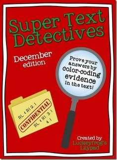 Text Detectives- December & More! - Luckeyfrogs Lilypad