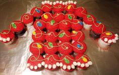Ugly Christmas Sweater Cupcake Cake