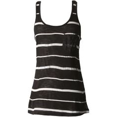 Striped Lace Back Tank-TANKS-Styles for Less Clothes Womens & Juniors Fashions - Styles For Less ($13) found on Polyvore
