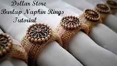 DIY Burlap Napkin Rings