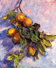 Lemons on a Branch Claude Oscar Monet - 1884