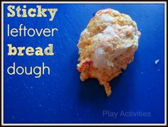 Fancy a change to playdough?  White bread for play- that's today's activity