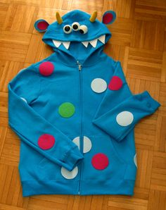 For the younger boys - thsi is perfect to go with our friendly monster themed trunk! 22 Last-Minute DIY Halloween Costumes