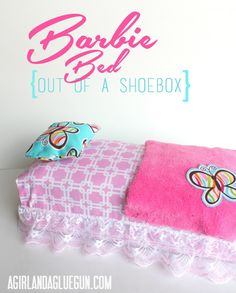 barbie bed diy out of a shoebox