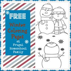FREE Winter Coloring Pages - Frugal Homeschool Family