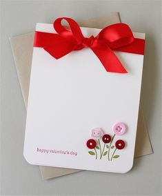 sweet and simple valentine card